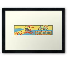 Bee Smart! Framed Print