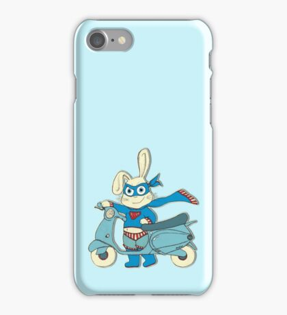 Be-All-You-Can-Be Bunny Rides in to Save the Day iPhone Case/Skin
