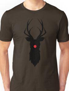 Minimal Reindeer (Black) Unisex T-Shirt