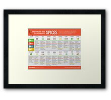 Cook Smarts' Guide to Enjoying Spices Framed Print