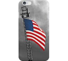 American Flag in Stormy Weather - iPhone Case iPhone Case/Skin