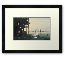 Świt Chemical Plant Framed Print