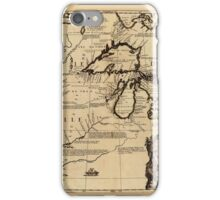 Map Of The Great Lakes 1688 iPhone Case/Skin