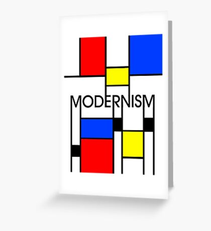 Modernism Greeting Card