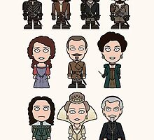 The Musketeers cast (print or card) by redscharlach