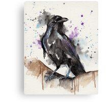 Crow Watercolour Canvas Print