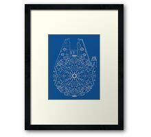 Millennium Falcon kaleidoscope Framed Print