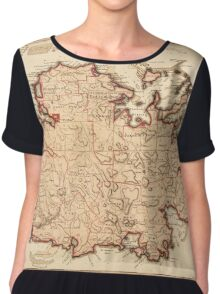 Map Of Antigua 1794 Chiffon Top