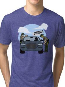 Do I look like a cat, boy? Tri-blend T-Shirt
