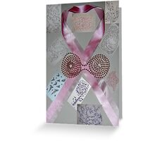 Pink Ribbons & Beads and the Art of Breast Cancer Treatment KazM Greeting Card