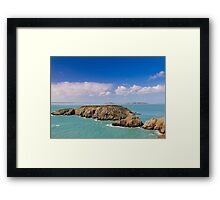 Coastal scene on the Channel Islands Framed Print