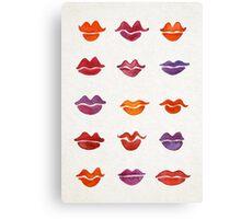 Watercolor Kisses Canvas Print
