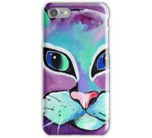 Mr. Fluffy - Cat Art by Valentina Miletic iPhone Case/Skin