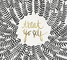 Treat Yo Self – Gold & Grey by Cat Coquillette