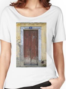 Old doorway Aveiro Portugal Women's Relaxed Fit T-Shirt