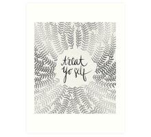 Treat Yo Self – Silver Art Print