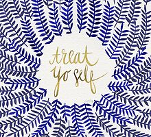 Treat Yo Self – Gold & Navy by Cat Coquillette