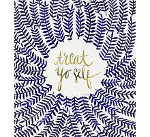 Treat Yo Self – Gold & Navy Photographic Print