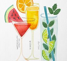 Summer Cocktail Trio by Cat Coquillette
