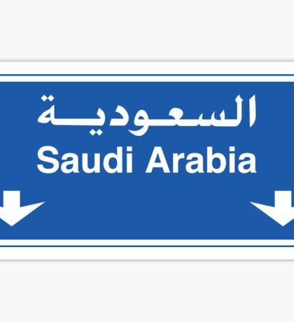 Saudi Arabia, Road Sign Sticker