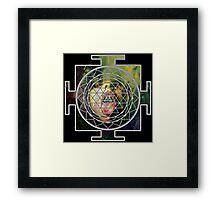 Sri Yantra Goddess on LSD Framed Print