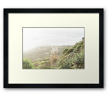 Green Hills and Sunshine by the Ocean Framed Print