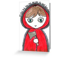 Once Upon a Crime - Li'l Red Greeting Card