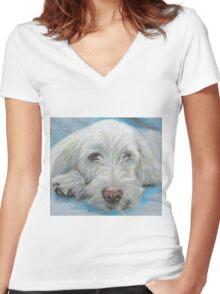 SPINONE SIESTA Women's Fitted V-Neck T-Shirt