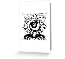 Via Dolorosa Phantasmagorica Greeting Card