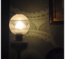 Lovely Lamp, Pretty Pattern Photographic Print