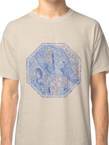 Zentangle Elephant In Pastel Classic T-Shirt