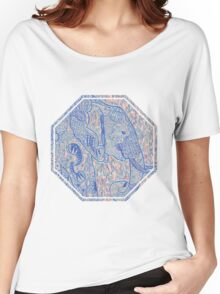 Zentangle Elephant In Pastel Women's Relaxed Fit T-Shirt
