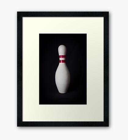 Bowling Pin Framed Print
