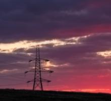 Sunset  pylons Sticker