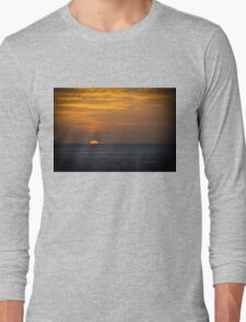 Sunrise at dawn golden sky Long Sleeve T-Shirt