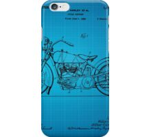 Motorcycle Patent 1925 - Blue iPhone Case/Skin