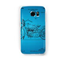 Motorcycle Patent 1925 - Blue Samsung Galaxy Case/Skin