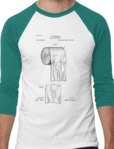 Toilet Paper Roll Patent 1891 Men's Baseball ¾ T-Shirt