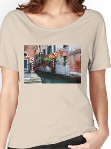 Impressions Of Venice - the Charming Christmassy Bridge Up Close Women's Relaxed Fit T-Shirt