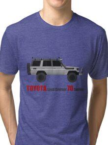 TOYOTA Land Cruiser 70 Series HZJ77 (Custom) Tri-blend T-Shirt