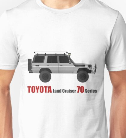 TOYOTA Land Cruiser 70 Series HZJ77 (Custom)  (machito) Unisex T-Shirt