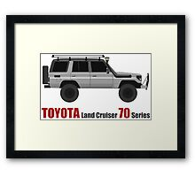 TOYOTA Land Cruiser 70 Series HZJ77 (Custom) Framed Print