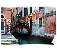 Impressions Of Venice - the Charming Christmassy Bridge Up Close Poster