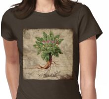 Mandrake Vintage elements Botanicals collection Womens Fitted T-Shirt