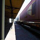 Train Abstract by WildestArt