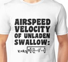 Airspeed Velocity of Unladen Swallow Unisex T-Shirt