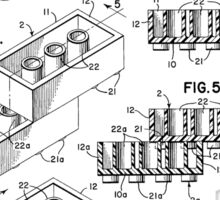 Lego Toy Building Brick Patent  Sticker