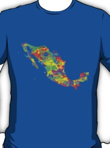 Mexico Watercolor Map T-Shirt