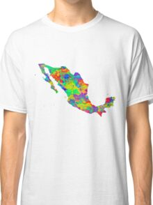 Mexico Watercolor Map Classic T-Shirt