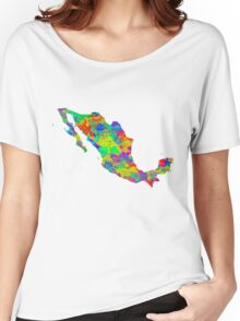 Mexico Watercolor Map Women's Relaxed Fit T-Shirt